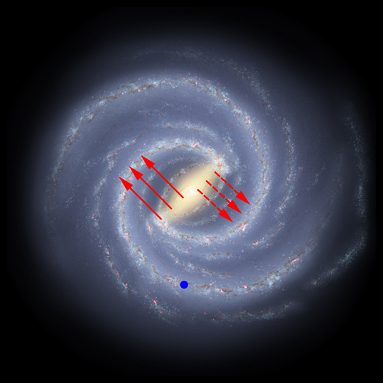 A color drawing of the Milky Way 